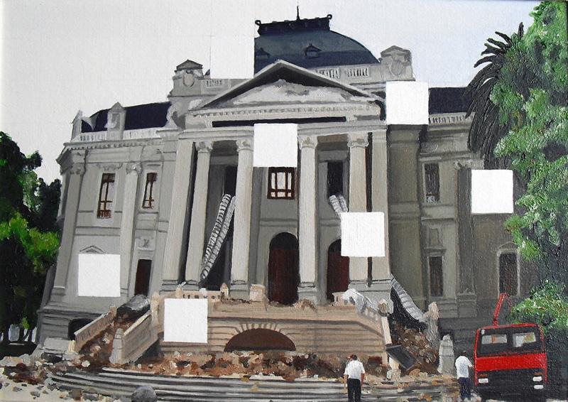 Resquicios. Museo de Arte Contemporáneo. Óleo sobre cartón. 29X21 cms.