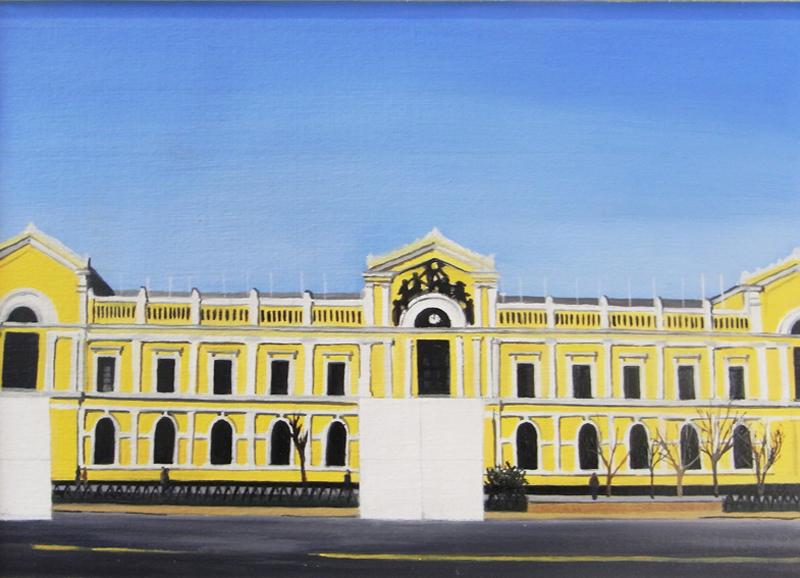 Resquicios. Universidad de Chile. Óleo sobre cartón. 29X21 cms.